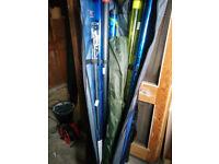 Preston seat box, Map TKS 14.5m Carbon graphite Pole plus Leeder waggler & feeder rods