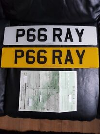 Reg. No. P66 RAY (Ret. Cert. + Set of plates) for sale £1650.00 OVNO