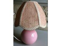Pink bedside lamp