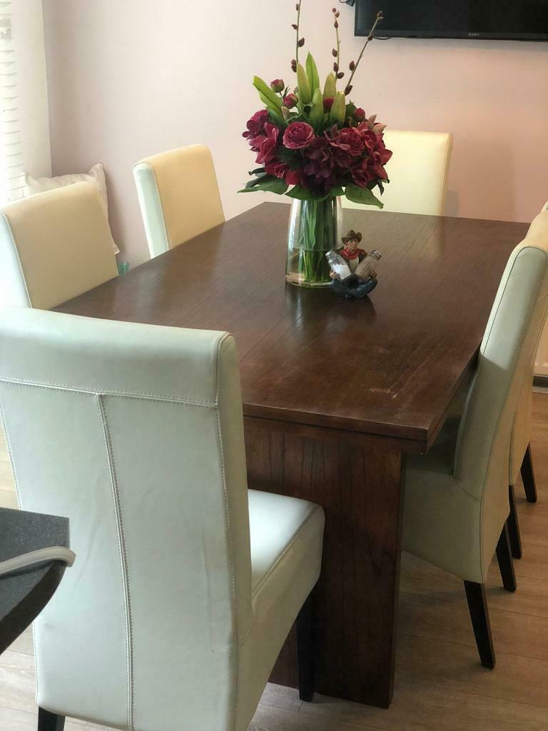 Dining table and 6 chairs   in Bearsden, Glasgow   Gumtree