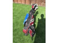 Wilson deep red junior 1/2 golf set