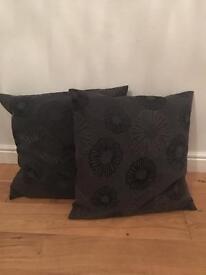 Large grey cushions x 2