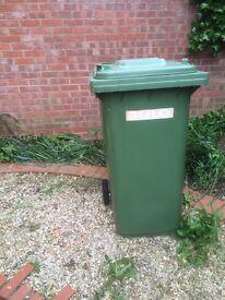 Garden waste, green bin - fairly clean and in good working order.