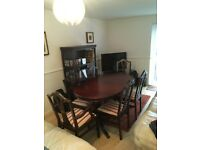 Dining Table & 6 Regency Chairs