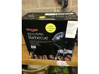 charcoal burning kettle style barbecue for sale (brand new, unused)