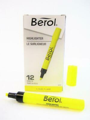 Berol Tank Highlighter Chisel Tip Color Yellow One Dozen 64324 New