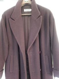 Wool mix long coat