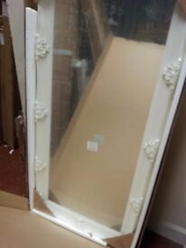 new boxed white ornate mirror 66cm x 32cm free local delivery