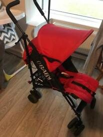 Red OBABY stroller