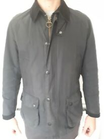 Barbour Wax Jacket Navy-Ashby-size M