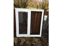 PVC double glazed white window
