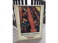 Cool & Colourful London canvas picture.