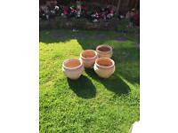 Variety of terracotta plant pots