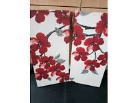 Red and white canvas 2 peice