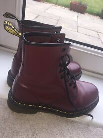 Women's size 4- Cherry Red Dr Martens