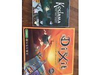 Board games, Dixit and Kodama, new