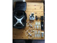 DJI Phantom 3 Professional, all original accessories + extras, 4K camera HD remote mint condition
