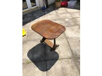small foldable wooden coffee table. vintage antique look