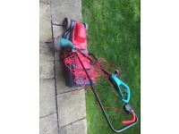 Corded Rotary Lawnmower Sovergeign + Bosch trimmer