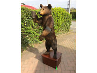 Antique Edwardian era Standing Brown Bear Taxidermy, pre 1947 Cites