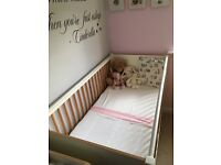 Mamas and Papas nursery furniture - cotbed, changing unit and wardrobe