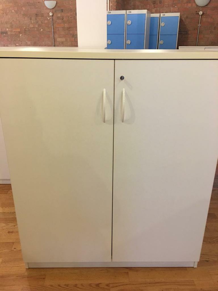 Mid-height Double Door Storage Office Cupboards x 2