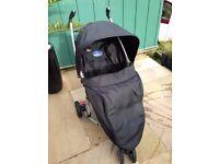 BabyStart 3 Wheeler Black Pushchair (suitable from birth)