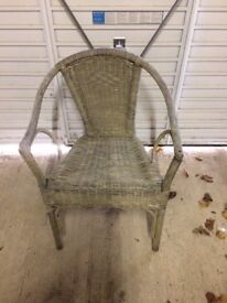 Vintage Wicker Chair..Used but not Abused..😃