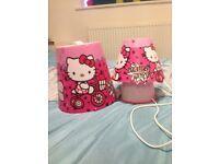Hello kitty Lamp and Shade set