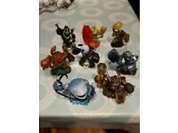 Large collection of skylanders figures, 3 skylanders games and sky trap team portal