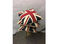 4 Union Jack Great Britain Cushions - STA21