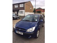 Hyundai GETZ blue manual 2006 1ltr Petrol. Low mileage just 60000. 1 owner. cheapest quick sale.