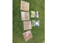 32 x iron ore wall floor tiles with mix. New 30cm