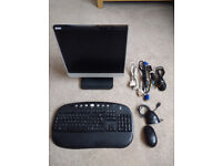 Monitor, Cordless Keyboard and Mouse