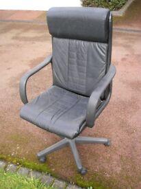 Black swivel office chair