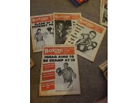Boxing news 1977 x53 jan to december. Used but good condition. See pictured