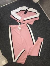 On trend baby pink loungewear set