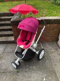 Quinny moodd pink passion travel system