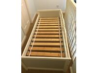 Children's white wooden IKEA single 3/4 bed