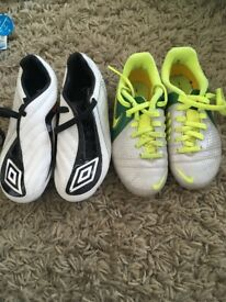 Boys football boots 2 pair size 11/12