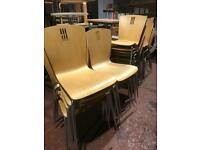 Stackable Beech Bistro Chairs