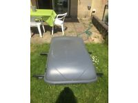 Pilot car roof box and brackets