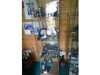 glass showcase / display cabinet x 2