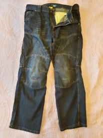 """Route One 013 Huntsman WR Short - 36"""" - Blue Wash - Kevlar Jeans"""