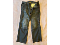 "Route One 013 Huntsman WR Short - 36"" - Blue Wash - Kevlar Jeans"