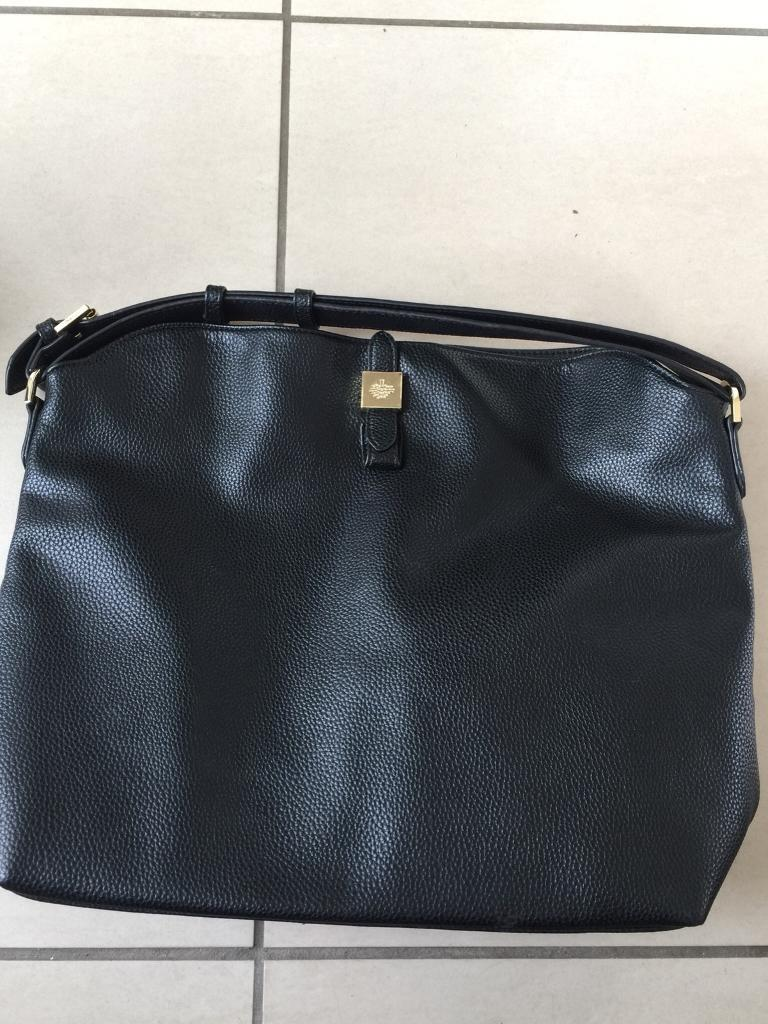 e8a99fb7f8 ... italy black handbag shoulder bag in the style of mulberry tessie tote  ea621 46a5f