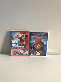 Paddington movie DVD + Ice Age Christmas