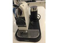 Cream Magimix Nespresso Coffe Machine and Milk Frother/Warmer