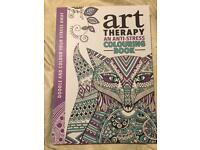 Adult therapy colouring books x 2