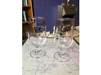 2 x BRAND NEW Old Mout Cider GENUINE & OFFICIAL Glasses JOBLOT, Pint 500ml Cidre Two Bar Beer Kiwi 1